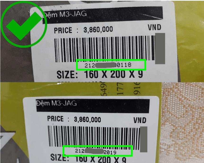 Kiểm tra mã vạch của sản phẩm của Everon chính hãng